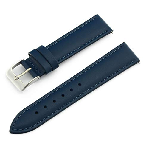 (CASSIS Reims Genuine Calf Leather Waterproof Lining Watch Strap 17mm Dark Blue with Tool D10257A1061017 )