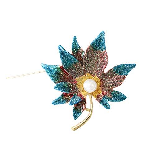 - Shinywear Brooch Pin Maple Leaf (Colorful)