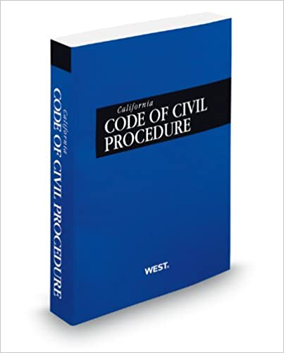 California Code of Civil Procedure, 2013 ed. (California Desktop Codes)