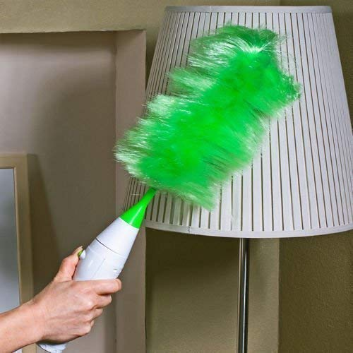 Natvar creation Creative Hand-Held, Sward Go Dust Electric Feather Spin Home Duster, Green. Electronic Motorised Cleaning Brush Set Price & Reviews