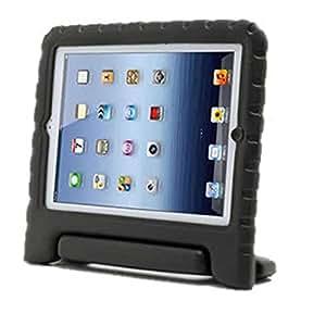Kids Friendly Safe Shock Proof EVA Foam Cover Handle Stand Case For Apple iPad 2, Black