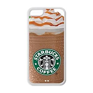 StarBucks Coffee Frappucino Ice Cup Mug Top TPU iPhone 5C Case from Good luck to by ruishername