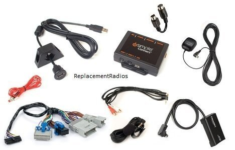 Satellite radio, Bluetooth, iPod, Android, USB and Aux kit for select 2003+ GM vehicles. Interface, SiriusXM kit, connection cable and dash trim tools. (Bundle: 4 items)