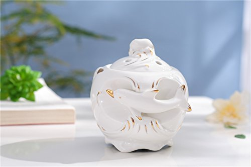 PROW 7 Color Changing 200ml White Ceramics Dolphin Essential Oils Aroma Diffuser Ultrasonic Air purification Humidifier with Timing Function Perfect Home Health Gift