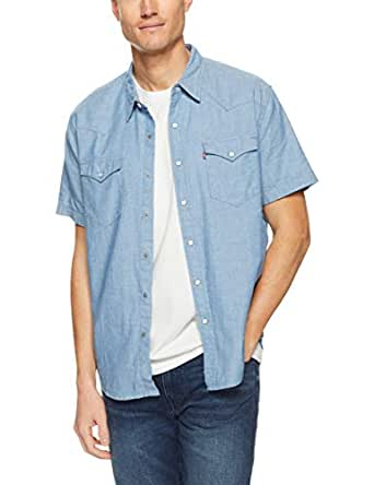 Levi's Men's S/S Classic Western Light T-Shirt, Indigo Chambrae, Medium