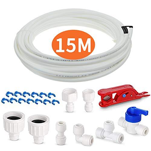 🥇 Tubo de agua para nevera con kit de accesorios de conector