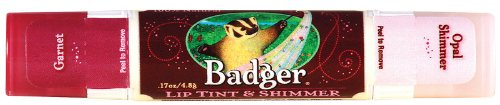 Badger Balm Lip Tint - Garnet - 0.17 oz