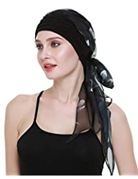 FocusCare Chemo Headwear Turbans for Women Long Hair Head Scarf Headwraps Cancer Hats