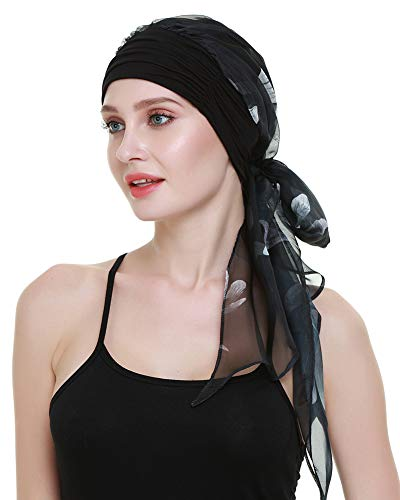 (Chemo Caps For Women Light Weight Cancer Scarf Feminine Head Cover For Long Hair Girls)