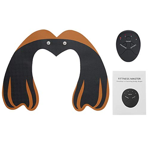 EMS Hip Trainer, 6Modes Buttock Lifting Massage Machine Hip Muscle Stimulation Massager Tool s to Lift, Shape and Firm the Butt for Men Women(01# Black+Orange)