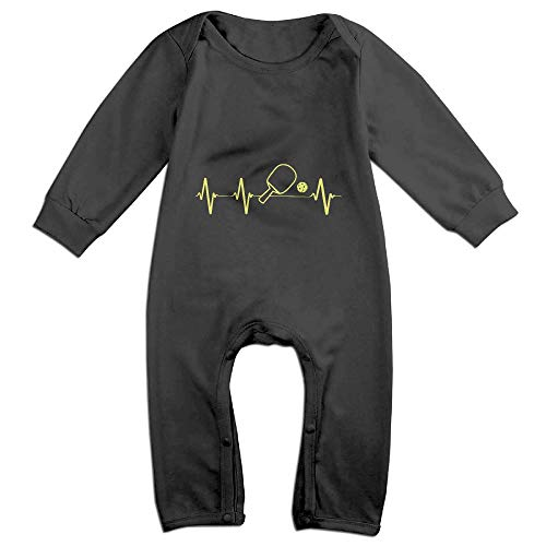 Price comparison product image OPQRSTQ-O Pickleball Paddle and Ball Heartbeat Baby Infant Girls Long-Sleeved Cute Bodysuit Jumpsuit Outfits