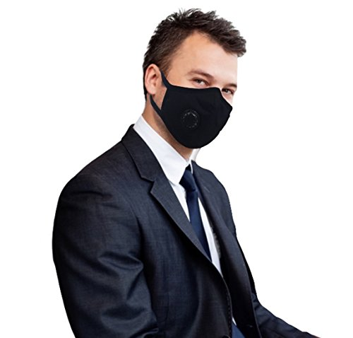 Grin Health Anti-Pollution Mask, Black (N-Series N99)