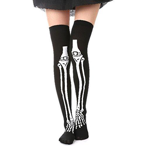 Skeleton Costumes Panty Hose (GREATLOVE Halloween Black and White Skeleton Pantyhose Party Socks Socks Legs Stockings)