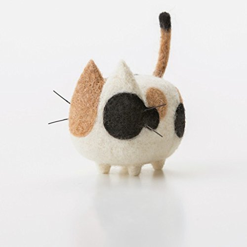 Truslin - DIY Needle Felting Kit with Gift Box Faceless Cat - Japanese Bobtails