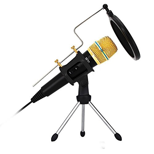 Professional Condenser Microphone Recording with Stand for PC Computer iphone Phone Android Ipad Podcasting, Online Chatting Mini Microphones by XIAOKOA by XIAOKOA (Image #7)