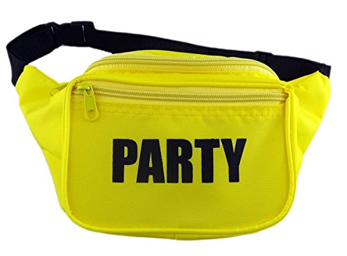 [Funny Guy Mugs PARTY Fanny Pack, Yellow] (80s Costumes For Men Ideas)