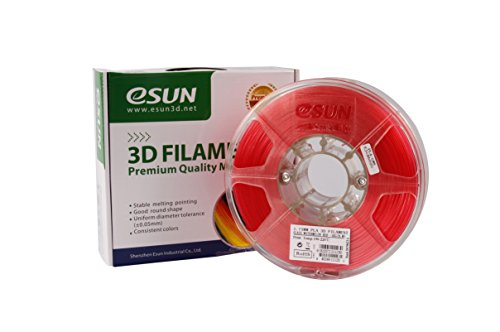 eSUN-175mm-Glass-Watermelon-Red-PLA-3D-Printer-filament-1kg-Spool-22lbs-Glass-Red