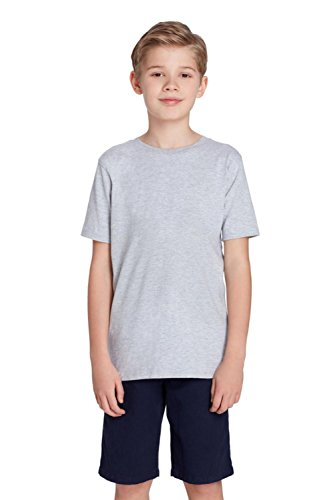 French Toast Boys' Short Sleeve Crewneck Tee,Heather Gray,6 ()