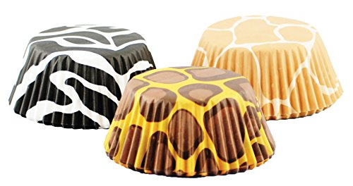 Fox Run 6893 Animal Prints I Bake Cup Set, Standard, 75 - Party Animal Print