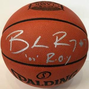 - Brandon Roy Autographed Portland Trail Blazers Leather Basketball