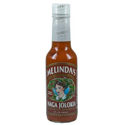 MELINDA'S Naga Jolokia Pepper Sauce 5 oz (Pack of 3) by Melinda's