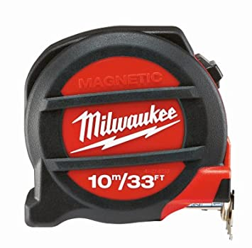 Milwaukee 48227305 HP5Mg/27 Premium-Maß band, magnetisch, Rot/Schwarz