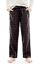 Big Boys Ultra Soft 100% Cotton Flannel Winter Lounge Pants With Pocket
