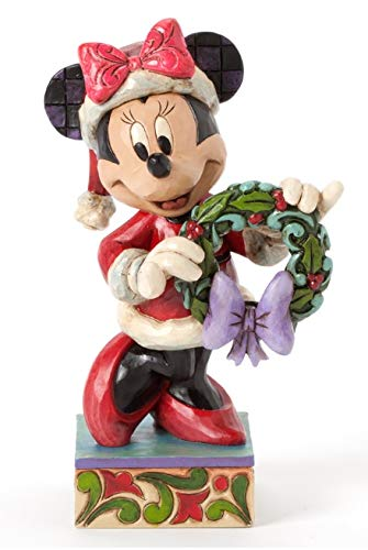 (Jim Shore for Enesco Disney Traditions by Minnie As Mrs. Clause Figurine)