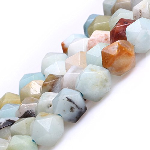 AAA Grade Faceted Semi Precious Gemstone Beads for Cambay Jewelry Making (8mm/multicolor amazonite)
