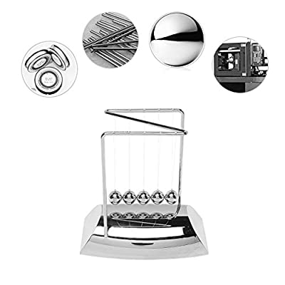 HuiSiFang Newton's Cradle Physics Science Toy Balance Swing Ball Decoration for Home and Office Desk: Kitchen & Dining
