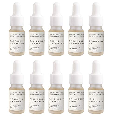 The Wooden Wick Co. Luxury Fragrance Kit - Luxe + Chic | Candle Making and Craft Supplies Fragrance Oil | Set of Ten 0.33 oz (10mL) Bottles with Dropper
