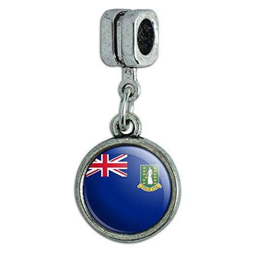 (Italian European Style Bracelet Charm Bead Country National Flag A-C - British Virgin Islands National Country Flag)