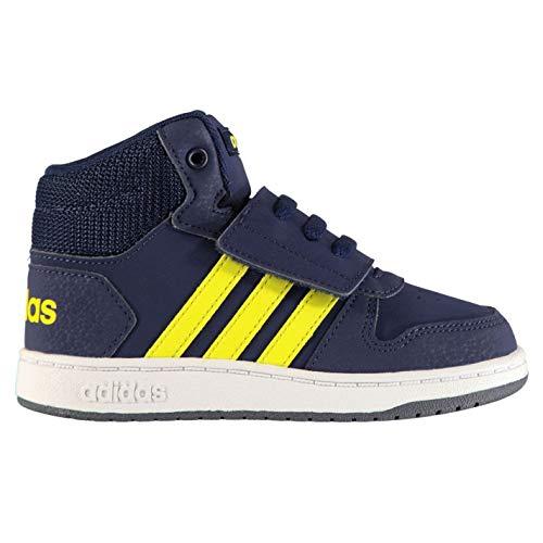 shoyel ftwwht shoyel Hoops Basses Mixte Mid ftwwht Dkblue Sneakers dkblue Bébé 2 Adidas 0 Bleu aUvwBq
