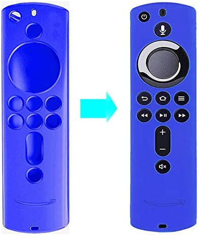 Remote Control case Compatible with Fire TV Stick, Fire TV Stick 4K, Fire TV Cube and Amazon Fire TV (third Generation) (Blue)