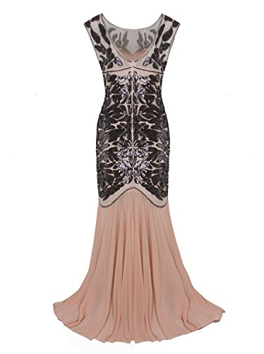 Vijiv 1920s Long Prom Dresses Sequins Beaded Art Deco ...