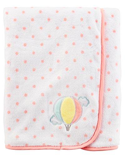 Carter's Baby Girls' Air Balloon Polka Velboa Blanket (Carters Bunny Blanket)