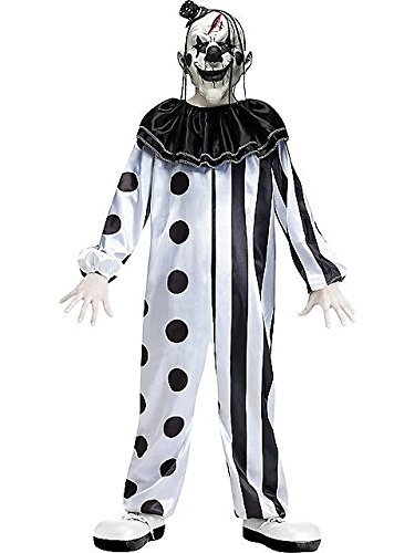 Creepy Child Costume (Boys Killer Clown Costume - M)