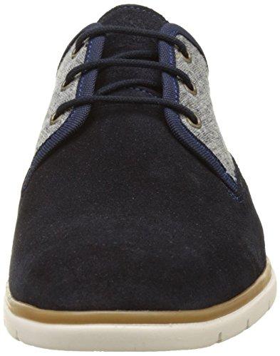 Schmoove Shaft District, Zapatos de Cordones Derby para Hombre Bleu (AZUL/GRIS)