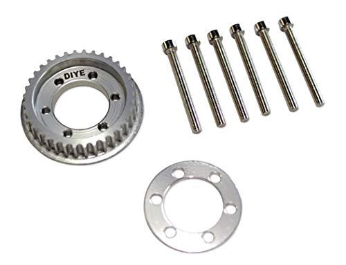 DIYE 36 Teeth 10mm Wide Drive Flywheel Pulley Kit Parts for 83mm/90mm/97mm/100mm Wheels 5mm Teeth DIY Electric Skateboard