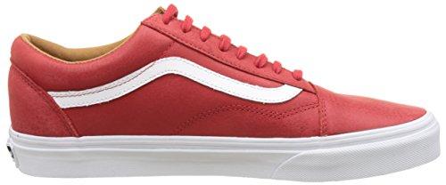 Vans Männer Old Skool Core Classics (Premium Leder) Racing Red / True White