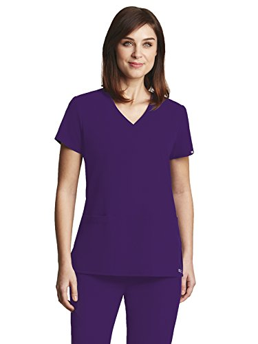 - Grey's Anatomy Signature 2115 V-Neck 3 Pocket Top Dewberry 5XL