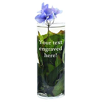 Personalized Clear Glass Vase Engraved with Your Custom Text