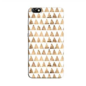 Cover It Up - Brown White Triangle Tile Honor 4X Hard Case