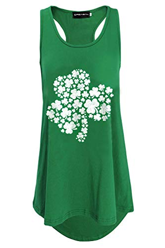 DREAGAL Plus Size Sleeveless Tunic Flare Flowy Tank Top for Women S -