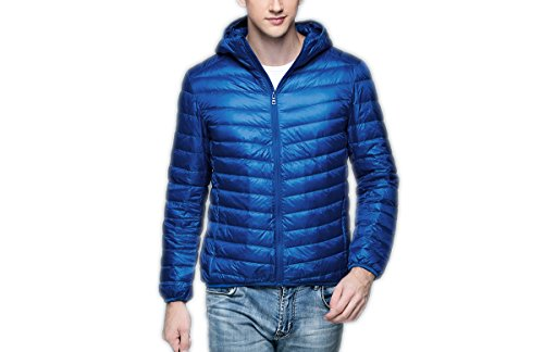 Jacket Sleeve Down Men's Puffer Sapphire Hooded Packable Ake Blue Long fwqxUO0g1S