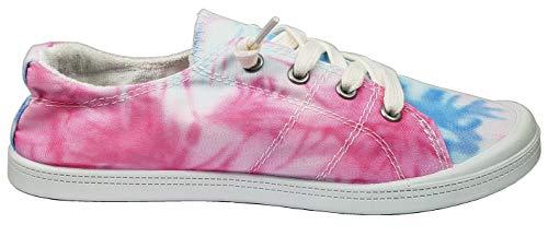 Forever Link Women's Classic Slip-On Comfort Fashion Sneaker, Pink Tie Dye, 5