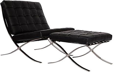 Amazon.com: MLF Barcelona Pavilion silla y otomana. Superior ...