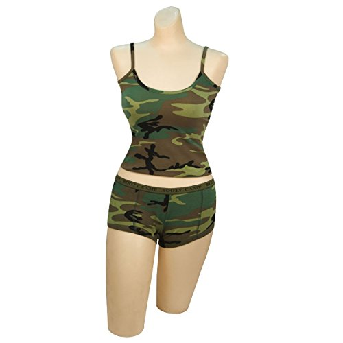 Woodland Camo Womens Booty Camp - 1