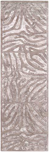 Surya Modern Classics 2'6 x 8' Hand Tufted Wool Runner Rug in Gray