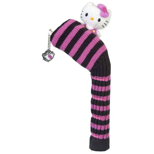 Hello Kitty Golf Mix and Match Hybrid Headcover (Black/Pink) ()